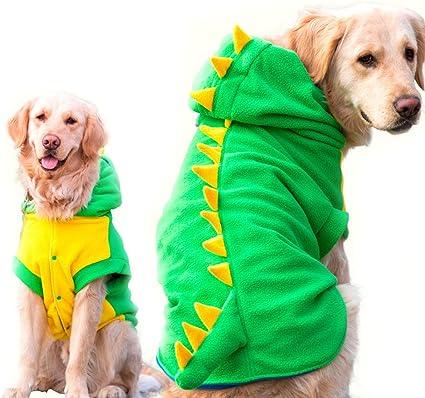 Crocodile Costume Pet Dog Clothes Halloween Winter Jumpsuit Jacket Coat Hoodie