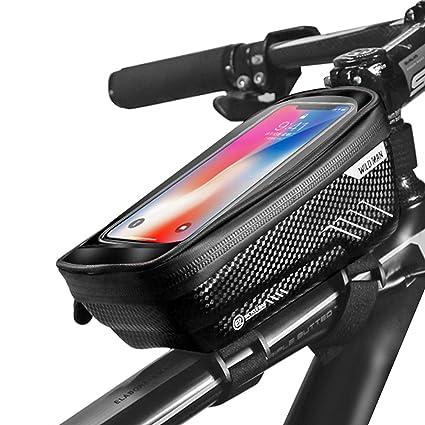 Baonuor Fahrrad Rahmentasche Fahrrad Handytasche Lenkertasche Wasserdicht Mit Tpu Touchscreen Fahrradtasche Fahrrad Oberrohrtasche Für Iphone 8