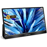 Portable Monitor - Lepow 14 inch (2021) FHD 1080P IPS Computer Monitor, Type-C HDMI Second Monitor with Upgraded 2 in 1 Smart