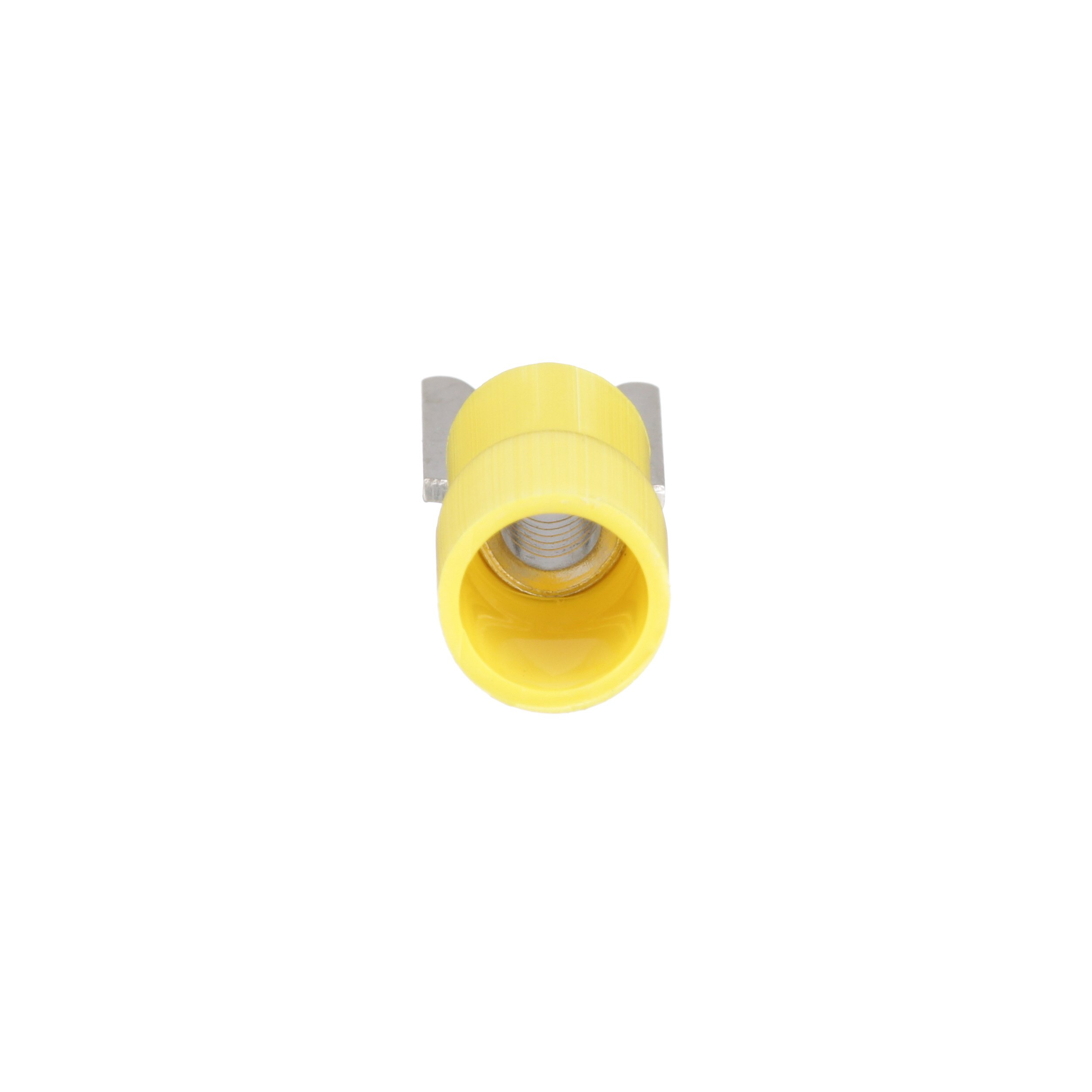 Panduit PV10-10R-D Ring Terminal, 12 - 10 AWG, #10 Stud Size, Funnel Entry, Vinyl Insulated by Panduit