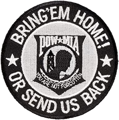 POW MIA United States Armed Forces Patch Iron on USA