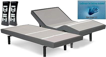 dynastymattress s-cape ajustable camas SET sueño Sistema Leggett y Platt, con lujo 30
