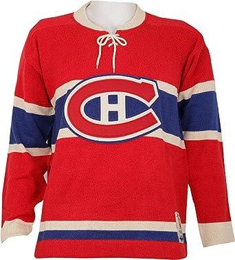 NHL Reebok Montreal Canadiens CCM NHL 1955-56 Classic Heritage Knit Sweater  (Medium) 6bfbe7c0a