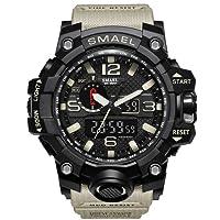 ETOWS? Men's Sport Watch Military Sports Watch 50M Waterproof Watches for Men Rubber LED Wrist Watch Shock Resistant Casual Wrist Quartz Watches