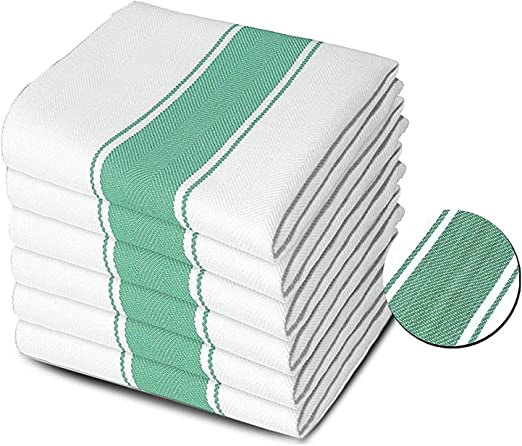 12 SUPER JUMBO TEA TOWELS CATERING QUALITY 100/% COTTON EXTRA ABSORBENT 50 X 70cm