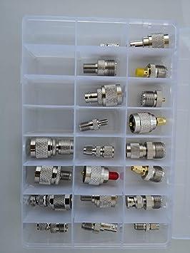 Juego de 20 adaptadores UHF PL259 SO239 Mini UHF UHF a SMA/BNC/MCX ...