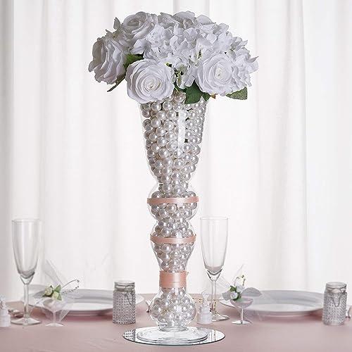 Efavormart 20″ Tall Curvy Trumpet Pilsner Glass Floral Vase