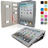 iPad 2 Case, Snugg™ - Executive Smart Cover With Card Slots & Lifetime Guarantee (Blue Denim) for Apple iPad 2