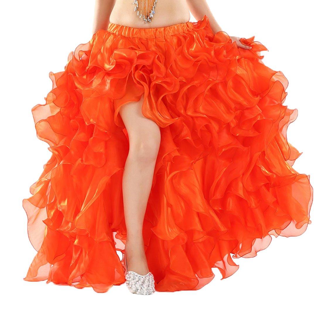 Calcifer alta calidad elegante danza del vientre falda de curling ...