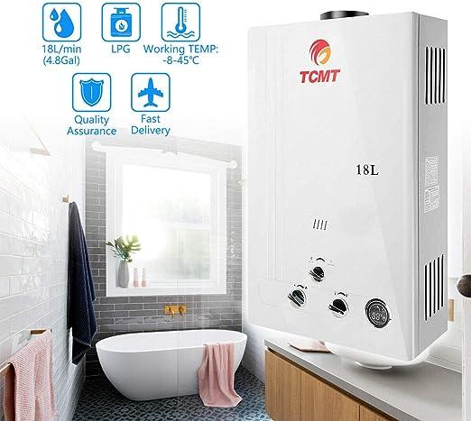 Amazon.com: Tengchang - Calentador de agua caliente de gas ...