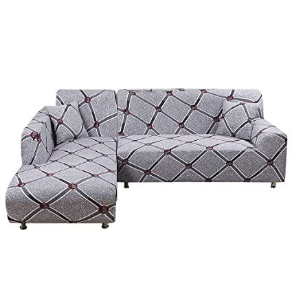 Amazon.com: Sectional Sofa Covers L Shape Sofa Slipcover for ...