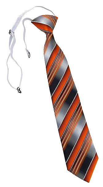 TigerTie - Corbata - para niño Naranja Orange Anthrazit Silber ...