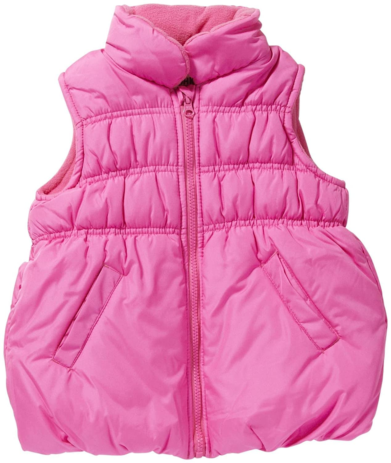 Osh Kosh Little Girls' Solid Bubble Puffer Vest Osh Kosh Girls 2-6x B214933