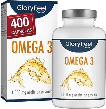 Omega 3 Aceite de Pescado - 400 Cápsulas de Alta Potencia (Suministro para 14 meses) - 1000mg por Cápsula - Con ácidos grasos Omega 3 EPA y DHA: Amazon.es: Salud y cuidado personal