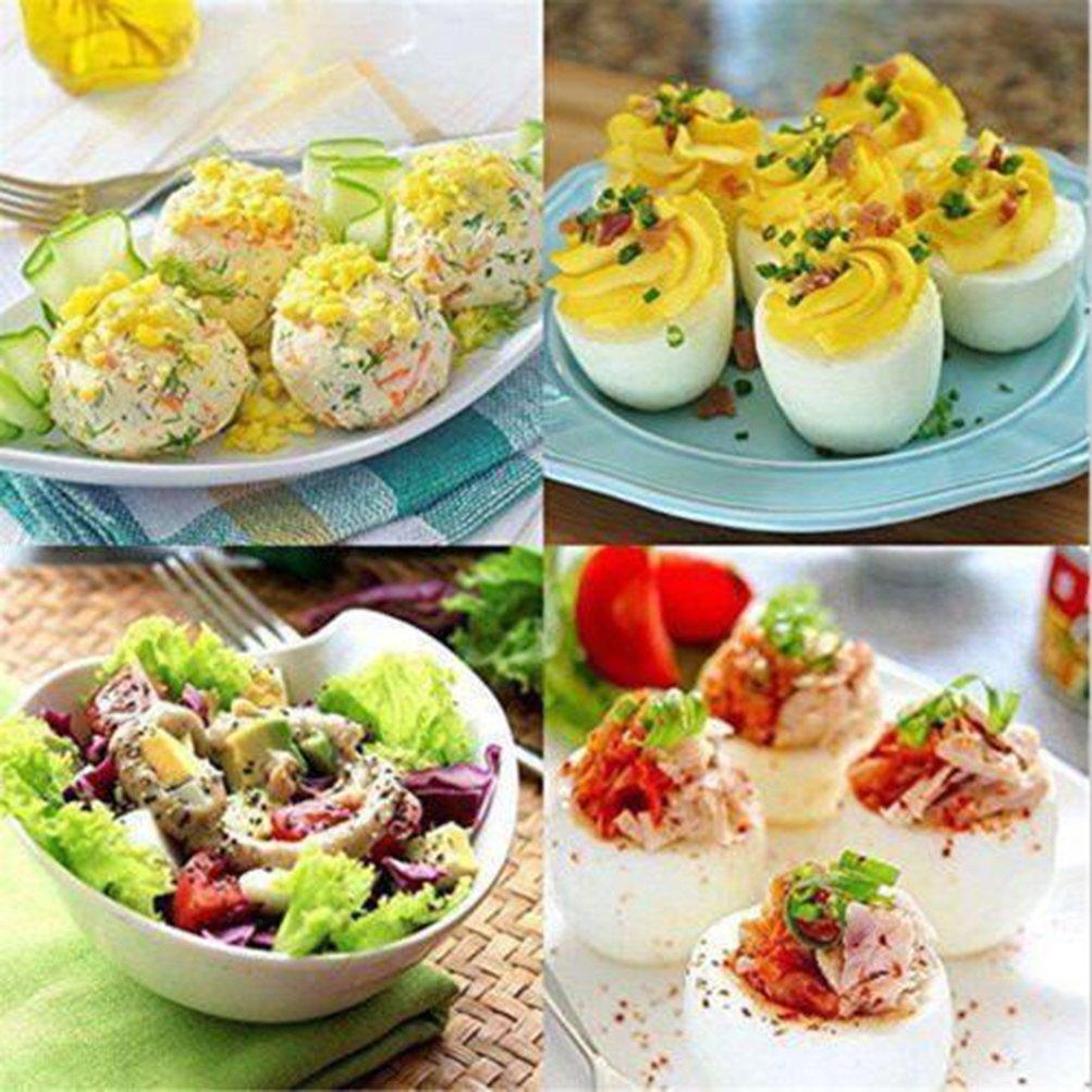 Warmword Cuecehuevos 6pcs Egg Cooker Maker Cooking Cup Non de Stick Silicone Poacher Boiled Egg Mould