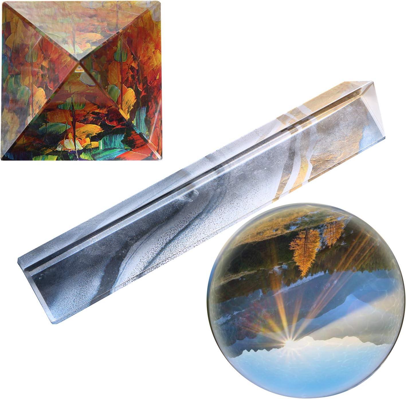 YYZLL Verre Prisme Triangulaire 30 x 30 x 50 MM Verre Optique Prisme r/éfracteur Spectre Photographie Verre Prisme exp/érience Scientifique Physique enseignement Accessoires Jouet Cadeau pour Enfants