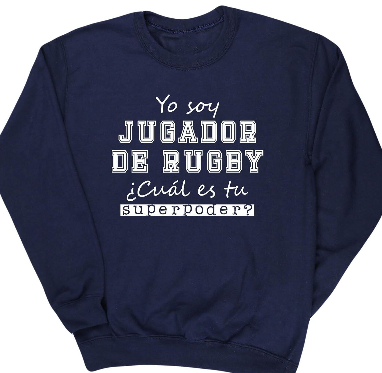 HippoWarehouse Yo Soy Jugador de Rugby, ¿Cuál es tu Superpoder? jersey sudadera suéter derportiva unisex: Amazon.es: Ropa y accesorios