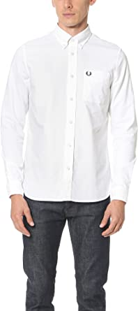Fred Perry FP Classic Oxford Shirt, Camisa Hombre Blanco Blanco ...