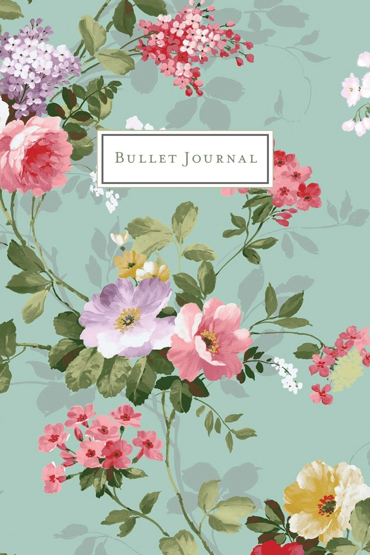 cda79266d4283 Bullet Journal: Roses and Flowers Botanical Pattern - Vintage Floral ...