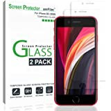 amFilm (2 Piezas Protector Pantalla Mica iPhone SE 2020, iPhone 8, iPhone 7, iPhone 6S, y iPhone 6 - Cristal Vidrio…