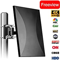 Amplified Digital TV Antenna 120-160 Mile Range, 2018 New Version ! Outdoor Indoor 4K TV Antenna with Signal Booster Extremely High Signal Reception with Detachable Amplifier for FM/VHF/UHF