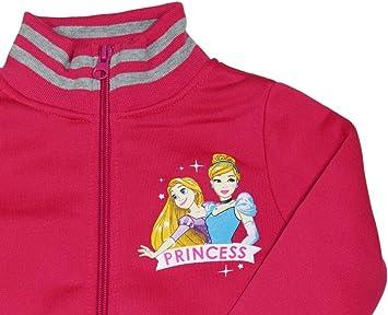 6 Anni, Rosa takestop Tuta da Ginnastica Principesse Cenerentola Rapunzel Felpa con Cerniera Zip Cartone Animato Disney Caldo Inverno Sportiva Jogging Bimba Bambina Idea Regalo