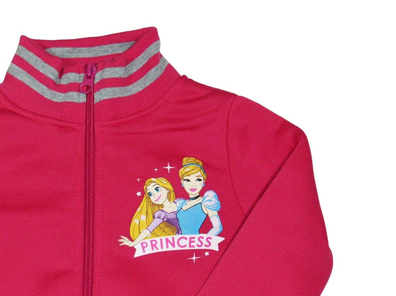 7 Anni, Rosa takestop Tuta da Ginnastica Principesse Cenerentola Rapunzel Felpa con Cerniera Zip Cartone Animato Disney Caldo Inverno Sportiva Jogging Bimba Bambina Idea Regalo