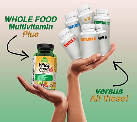Amazon.com: Multivitamina Plus - Multivitaminas de alimentos ...