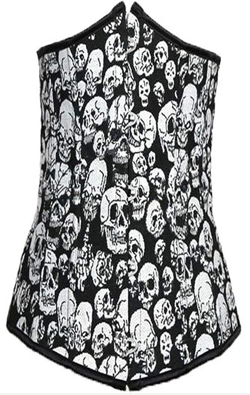 Corsé De Damas Figura Patrón La Moda Completi Camisa De Fuerza Blanca Steampunk Cráneo Gótico Cuerpo Estampado Bustier Bustier Tetona: Amazon.es: Ropa y accesorios