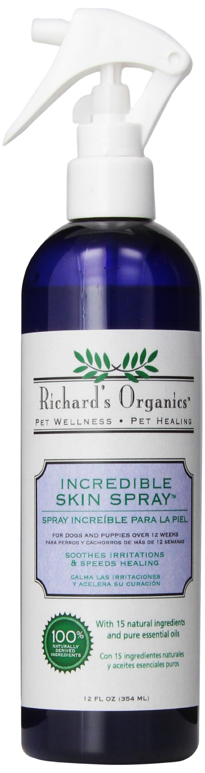 SynergyLabs Richard's Organics Incredible Skin Spray for Dogs; 12 fl. oz.