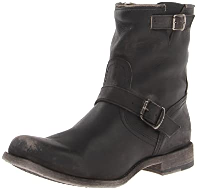 FRYE Men's Smith Engineer Engineer Boot, 87078-Black, ...