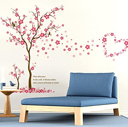 bibitime plum blossoms wall decal sticker in the cold it blooms