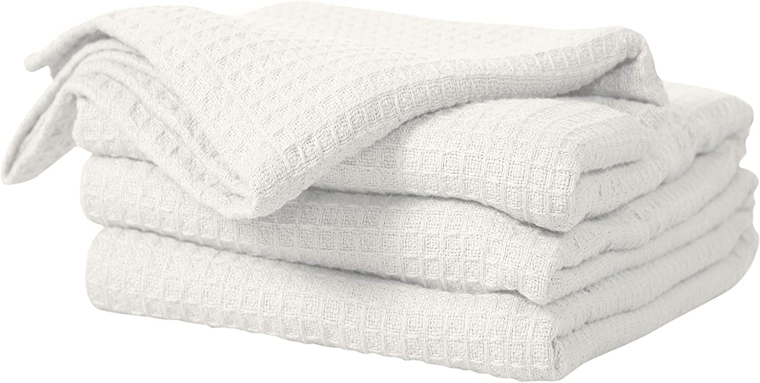 Bed Bath & Home 100% Cotton Waffle Weave Thermal Blankets – Soft Comfortable Breathable – Perfect for Bed Couch Sofa – Twin Size (60 x 90 Inches), Ivory/Cream