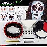 Pintura Sugar Skull Maquillaje máscara calavera mexicana varias unidades Accesorios Halloween Colorete La Catrina Kit de belleza Día de los muertos Utensilio caracterización calavera