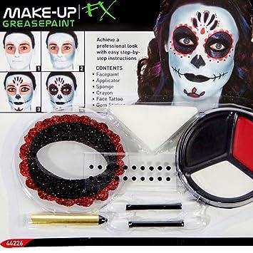 Pintura Sugar Skull Maquillaje máscara calavera mexicana varias unidades Accesorios Halloween Colorete La Catrina Kit de