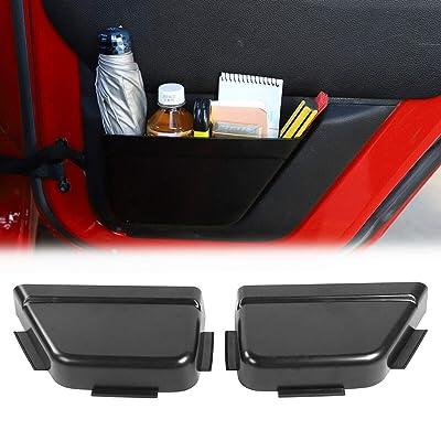 RT-TCZ Rear Door Net Pocket Storage Box Organizer for 2011-2020 Jeep Wrangler JKU 4-Door: Automotive