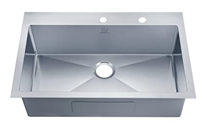 Single Bowl Kitchen Sinks Stufurhome nw 3322so over mount stainless steel 2 hole single bowl stufurhome nw 3322so over mount stainless steel 2 hole single bowl kitchen sink workwithnaturefo