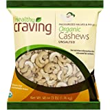Healthy Craving Organic Cashews, 3lbs I Unsalted, Halves and Pieces, Vegan Snacks, Vegetarian-Friendly, Kosher, Gluten…