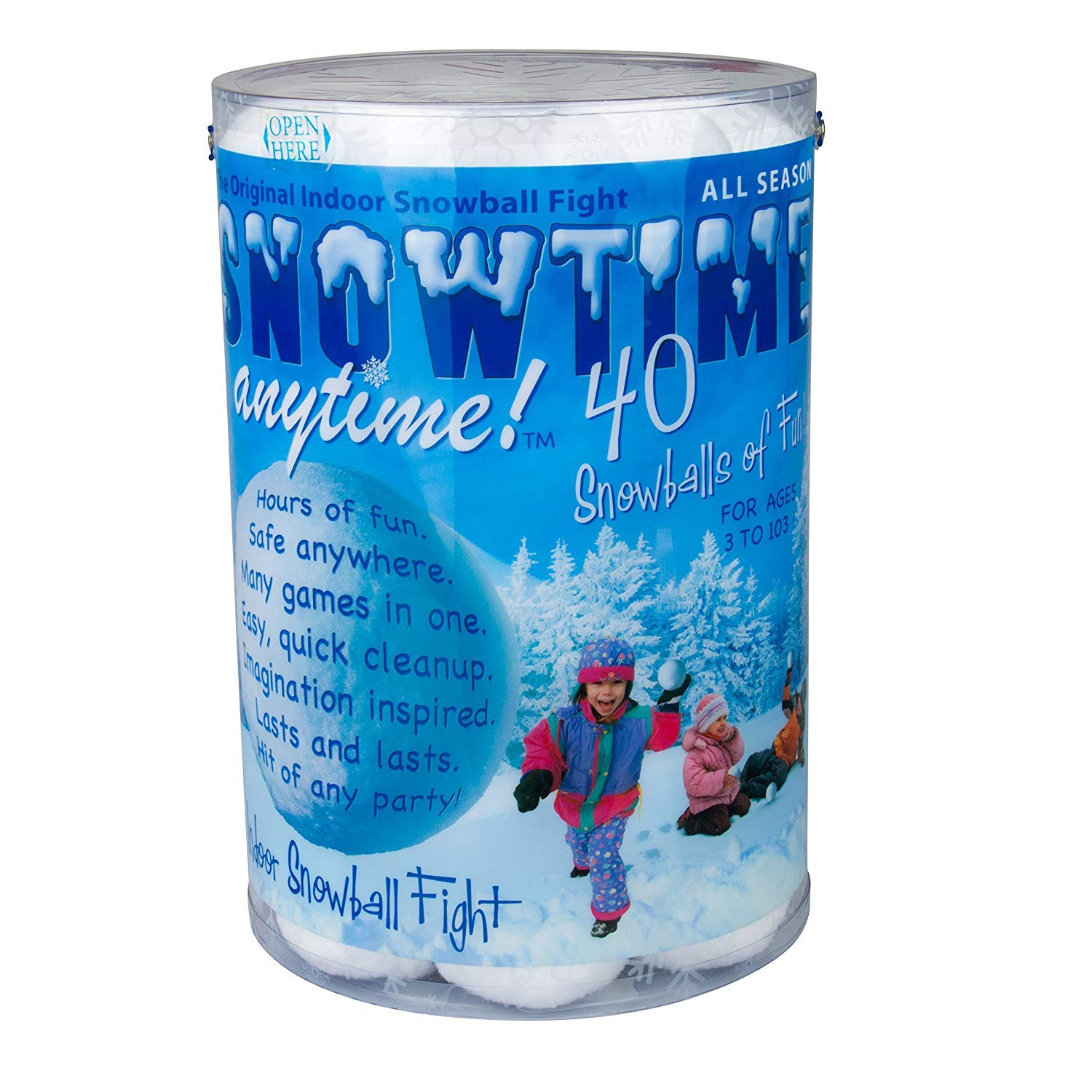 Indoor Snowball Fight SNOWTIME ANYTIME 40 pk SG/_B00ADVKRRM/_US