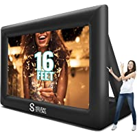 Inflatable Movie Screen Outdoor – Screens for Christmas Movies Outside – Mega Blow Up Rear Projection – Just Set Up Your Projector + Speakers – Package Inc Frame, Blower, Pegs, Popcorn Bags…