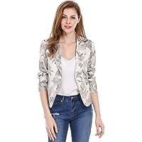 Allegra K Women's Open Front Office Crop Blazer Jacket
