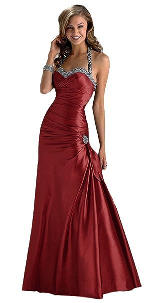 SEXYHER Viste vestido de fiesta de espalda escotada hermosa en colores azul y plata p¨