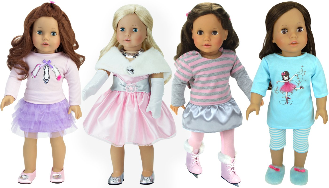 Pretty Pink Doll Dress Up Set by Doll Pink Set Sophia's with 10 Pieces B01LQSVVWK, YouShowShop:a3cf8a83 --- awardsame.club