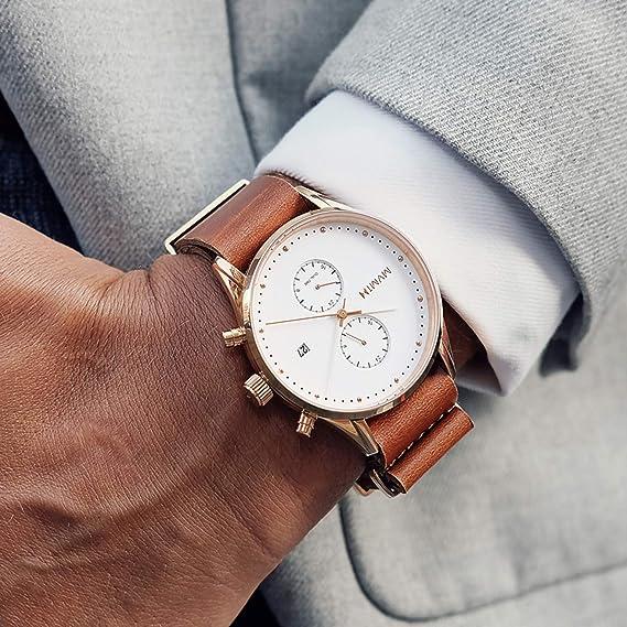 mvmt Voyager Rosewood Rosegold/marrón piel natural OTAN Hombre Reloj de pulsera: Amazon.es: Relojes
