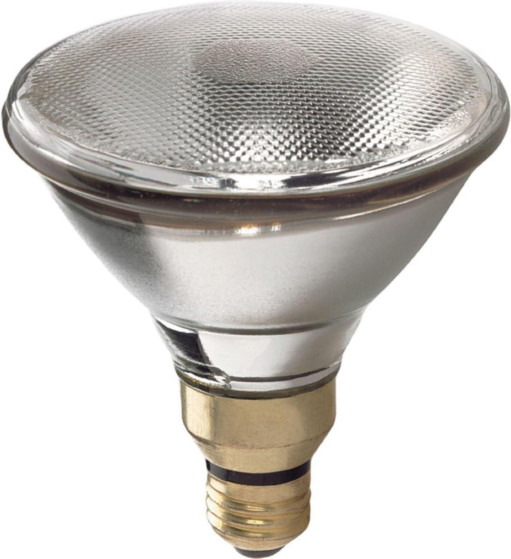 GE Lighting 66281 Energy-Efficient Halogen 90-Watt (120-watt replacement) 1790-Lumen PAR38 Spotlight Bulb with Medium Base, 2-Pack