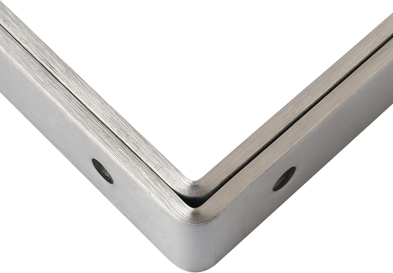 Alise 4mm-Thicker Heavy Duty Stainless Steel Brackets Floating Shelf Bracket Corner Brace Support 6x4 Inch,4 Pcs Matte Black