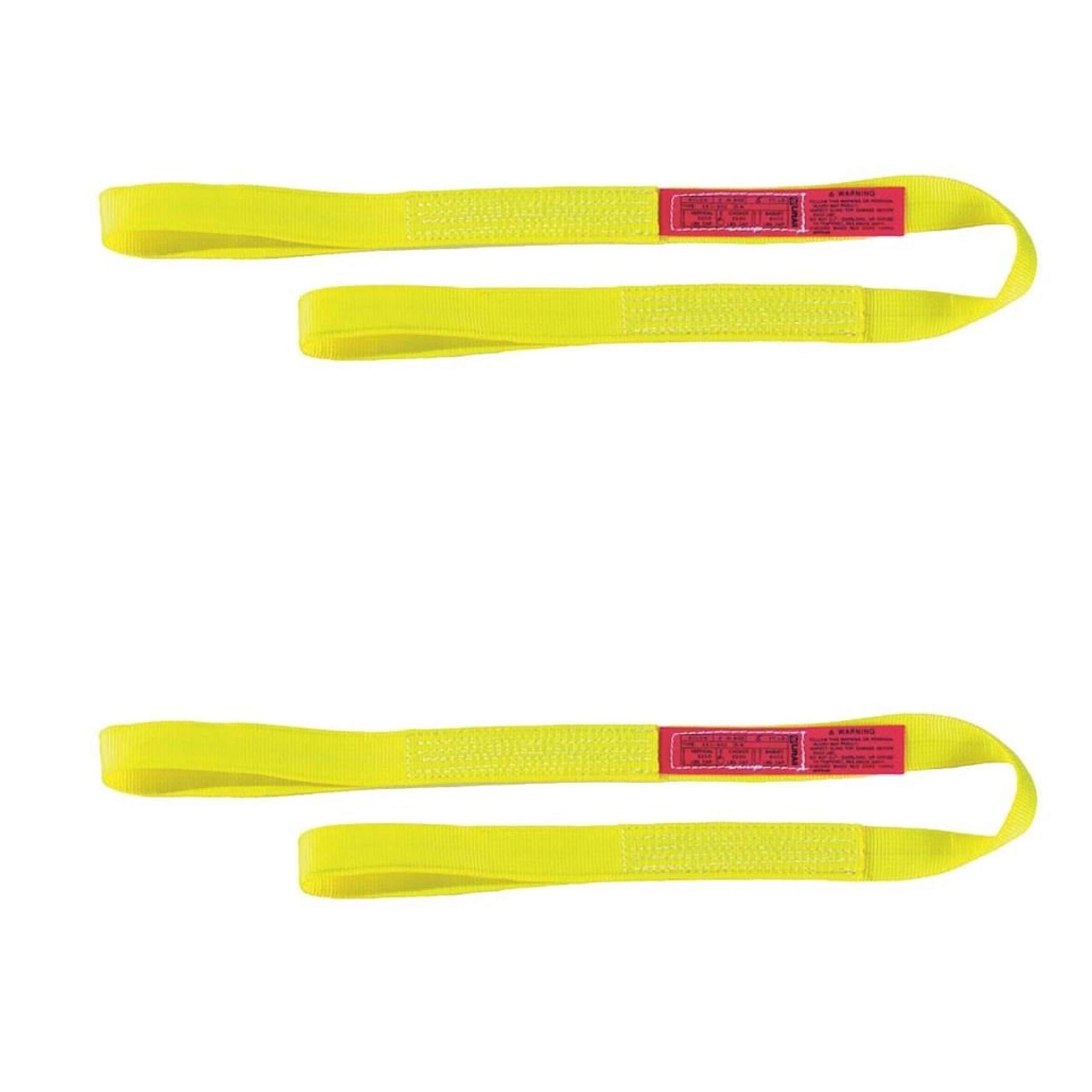 Liftall EE1601NFX3 Eye-Eye Web Sling, Nylon, 1'' x 3', 1-ply, Vertical Capacity- 1200 LBS, Flat-Eye (Two Pack) by Lift-All