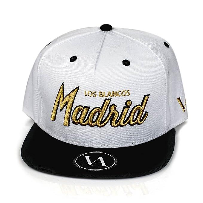 Madrid Gorra de Béisbol - Equipo De Fútbol Gorra - Blanco para la Moda Snapback Cap: Amazon.es: Ropa y accesorios