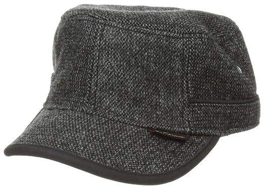 Amazon.com  Ben Sherman Men s Tweed Legion Cap df7fdca1386