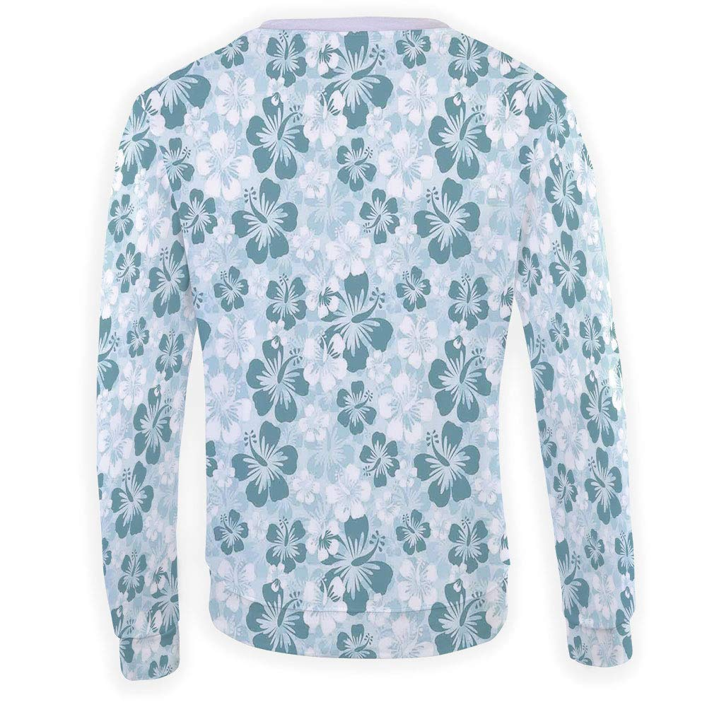 MOOCOM Mens Crewneck Hawaiian Decorations Sweatshirt